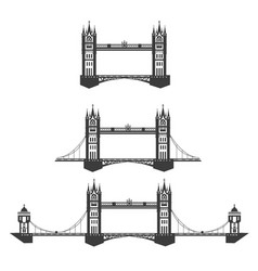 icon of the tower bridge vector image