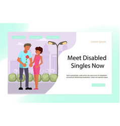 landing page for virtual relationships vector image