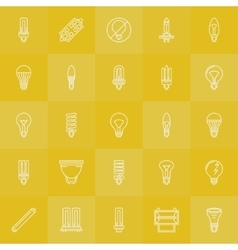 Light bulbs icons set vector