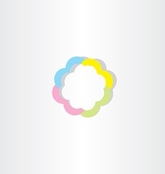 light colorful business sign icon abstract logo vector image
