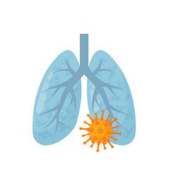 Lung disease concept in cartoon style vector