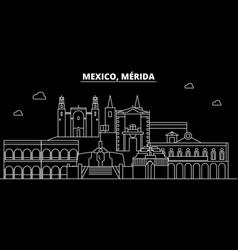 Merida silhouette skyline mexico - merida vector