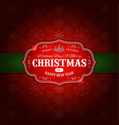 merry christmas ornament background vector image