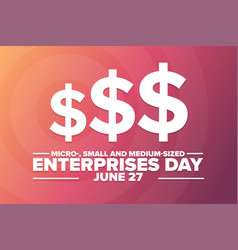 Micro- small and medium-sized enterprises day vector