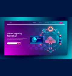 modern flat design cloud computing online vector image