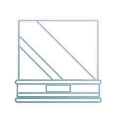 museum showcase icon vector image