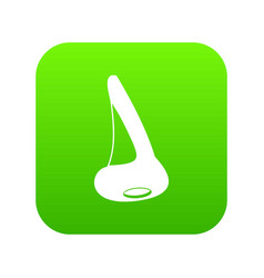 nose side view icon digital green vector image