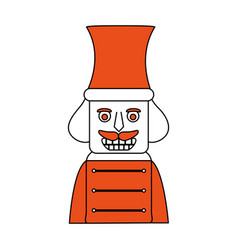 nutcracker toy christmas related icon image vector image