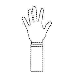 Open hand showing five fingers vector