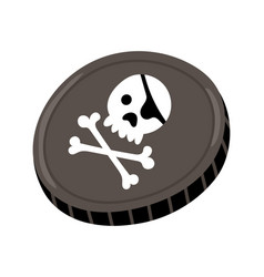 pirate black mark icon vector image vector image