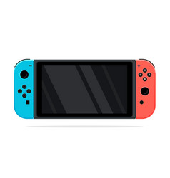 Portable handheld video game console vector