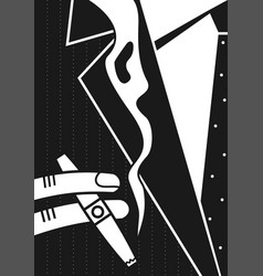 poster a man and a cigar vector image