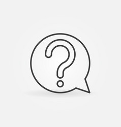 Question mark in speech bubble icon or vector