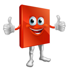 red book man doing thumbs up vector image
