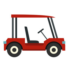 red golf cart icon isolated vector image