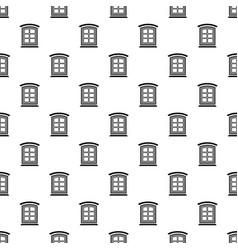 Retro window frame pattern seamless vector