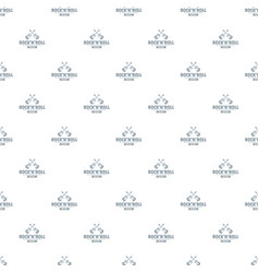 rock n roll pattern seamless vector image