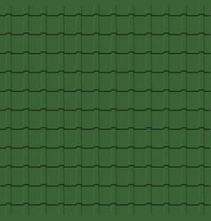 Roof tiles seamless pattern green shingles vector
