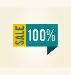 sale 100 label with title vector image