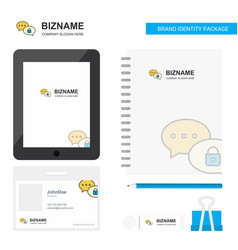 Secure chat business logo tab app diary pvc vector