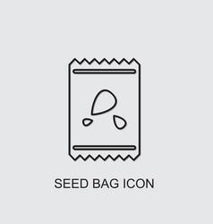 Seed bag icon vector