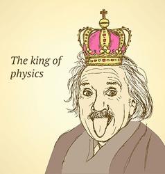 Sketch Albert Einstein in vintage style vector