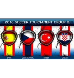 Soccer Euro Group D vector