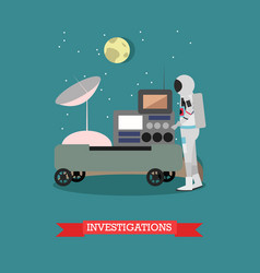 Space investigations concept vector