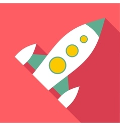 Spaceship icon flat style vector image