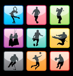 sports buttons set02 vector image vector image