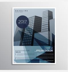 stylish blue presentation brochure leaflet design vector image