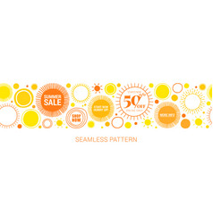 Summer sale for mobile and social media banner vector