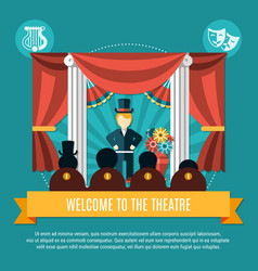 Theatre colored concept vector