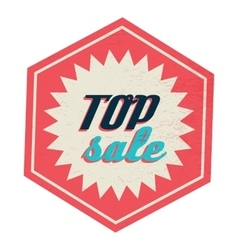 Top sale label vintage style vector image