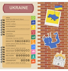Ukraine infographics statistical data sights vector