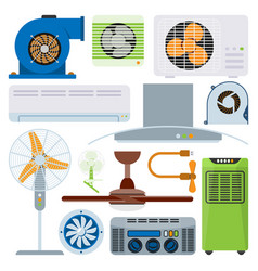 ventilation system air condition ventilators vector image