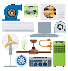 Ventilation system air condition ventilators vector