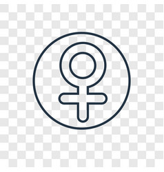 venus concept linear icon isolated on transparent vector image