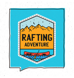 vintage adventure badge design vector image