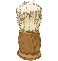 Vintage Shaving Brush vector