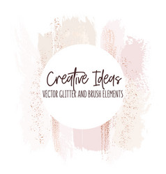 watercolor brush strokes creative template moedrn vector image