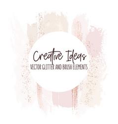 Watercolor brush strokes creative template moedrn vector