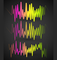Waveforms eq equalizer graphics with spectrum vector