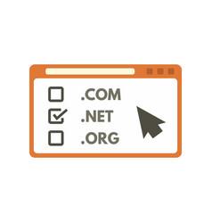 web domain icon flat style vector image