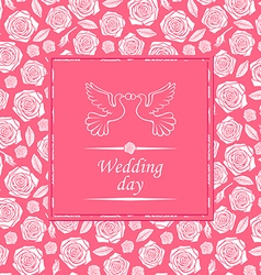 wedding rose rose vector image