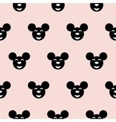 Black hipster mouse kid scandinavian pattern vector image vector image
