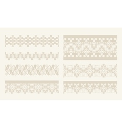 lacy vintage design elements lace seamless vector image