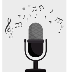microphone retro isolated icon design vector image