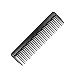 black plastic pocket hair brush comb isolated vector image