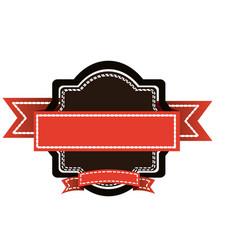 color big border with short ribbon decorative icon vector image vector image